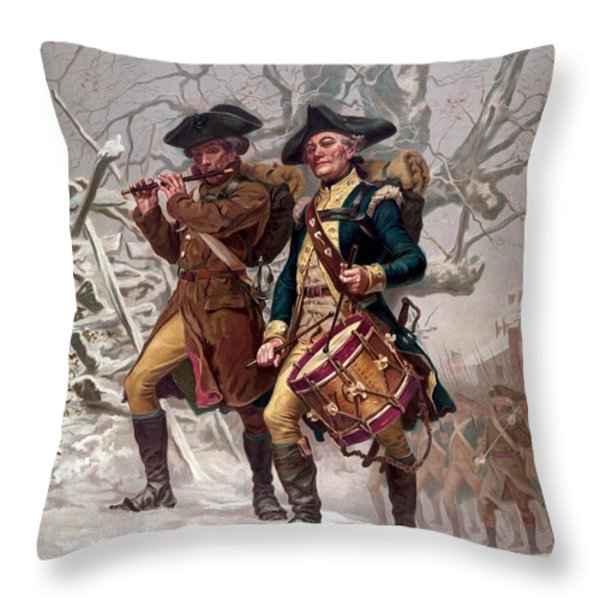 Revolutionary War Soldiers Marching Throw Pillow by War Is Hell Store