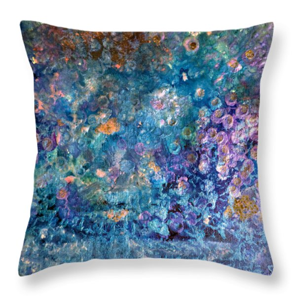 Rhapsody In Blue Throw Pillow by Don  Wright