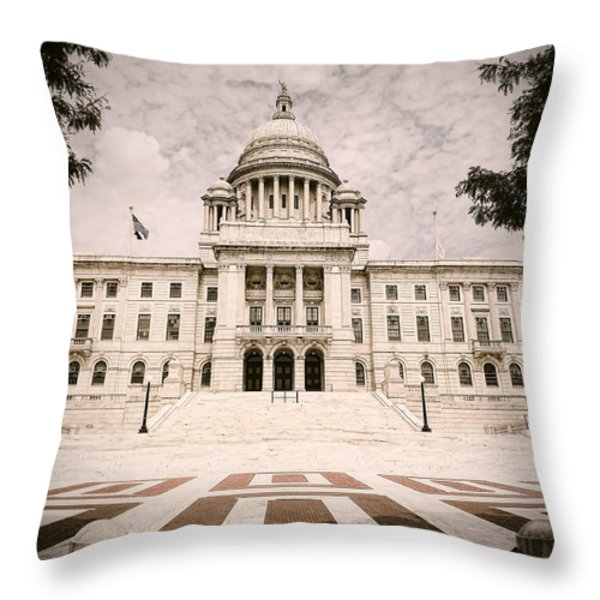 Rhode Island State House Throw Pillow by Lourry Legarde