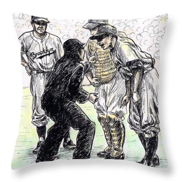 Rhubarb Throw Pillow by Mel Thompson