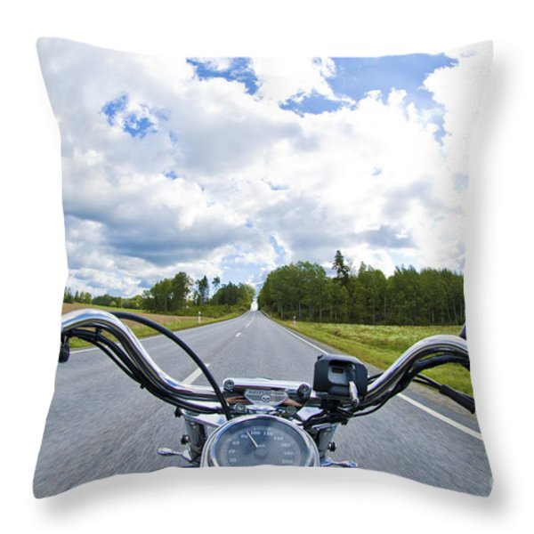 Riders Eye View Throw Pillow by Micah May