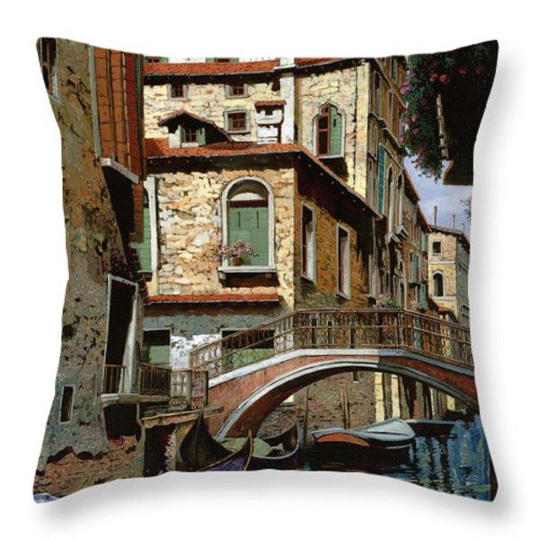 Rio Degli Squeri Throw Pillow by Guido Borelli