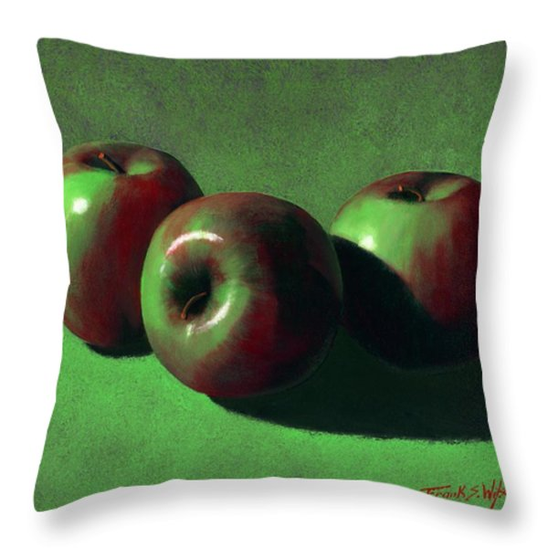 Ripe Apples Throw Pillow by Frank Wilson