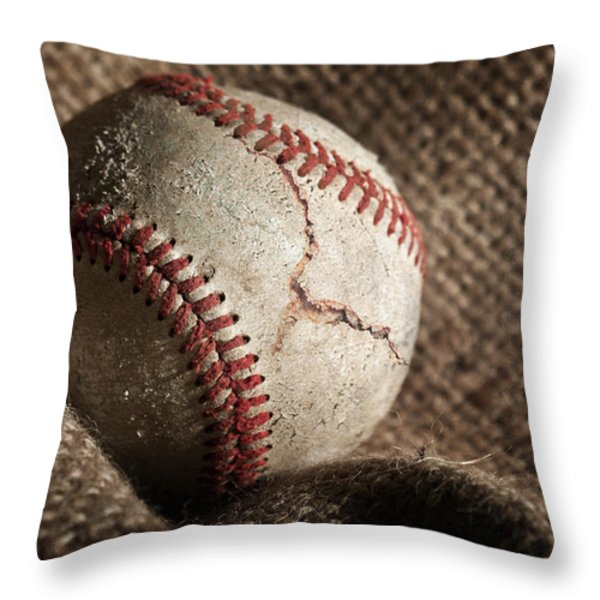 Ripped One Throw Pillow by Tom Mc Nemar