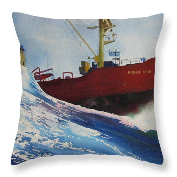 Rising Star Throw Pillow by Karen Stark