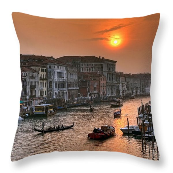 Riva del Ferro. Venezia Throw Pillow by Juan Carlos Ferro Duque