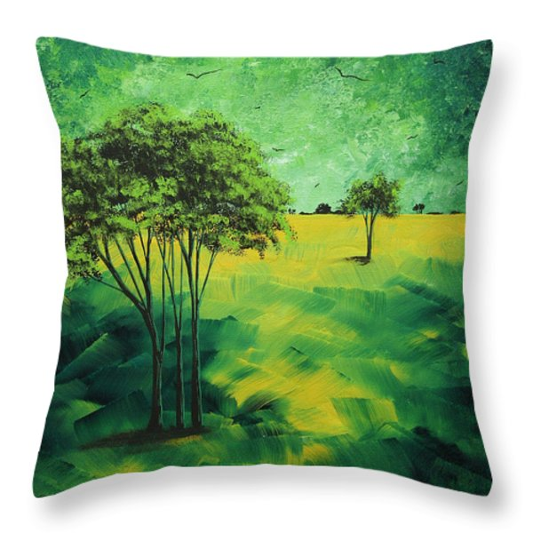 Road to Nowhere 1 by MADART Throw Pillow by Megan Duncanson