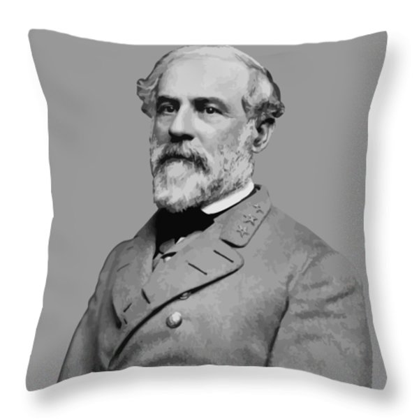 Robert E Lee Confederate Hero Throw Pillow by War Is Hell Store