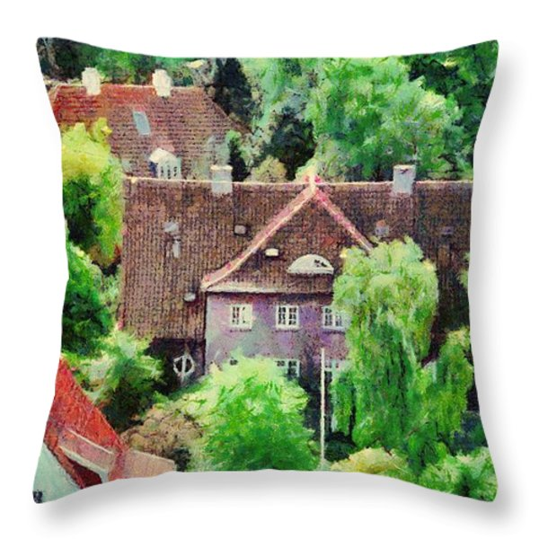 Rooftops Throw Pillow by Jeff Kolker