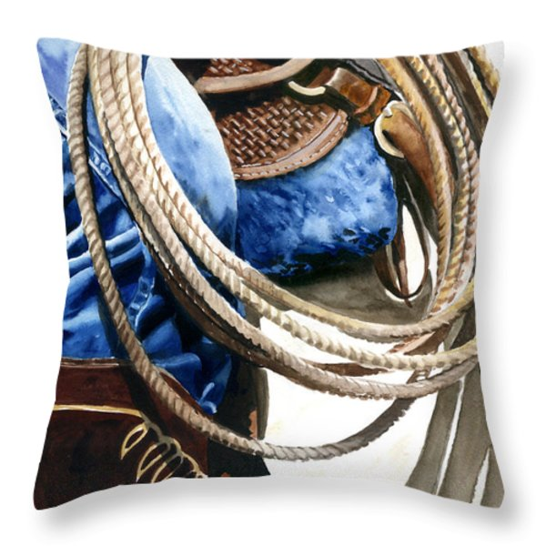 Rope Throw Pillow by Nadi Spencer
