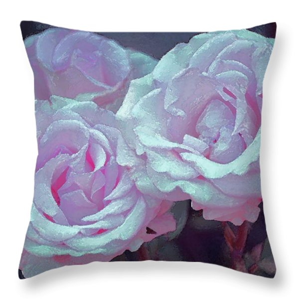 Rose 118 Throw Pillow by Pamela Cooper