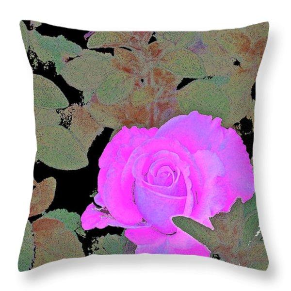 Rose 97 Throw Pillow by Pamela Cooper