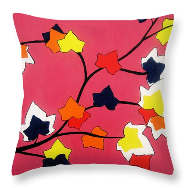 Rose Coloured Glow Throw Pillow by Oliver Johnston