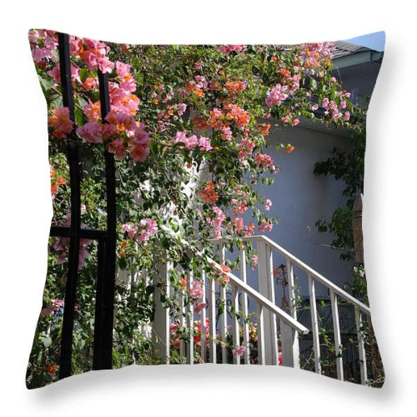 Roses in Winter Throw Pillow by Susanne Van Hulst