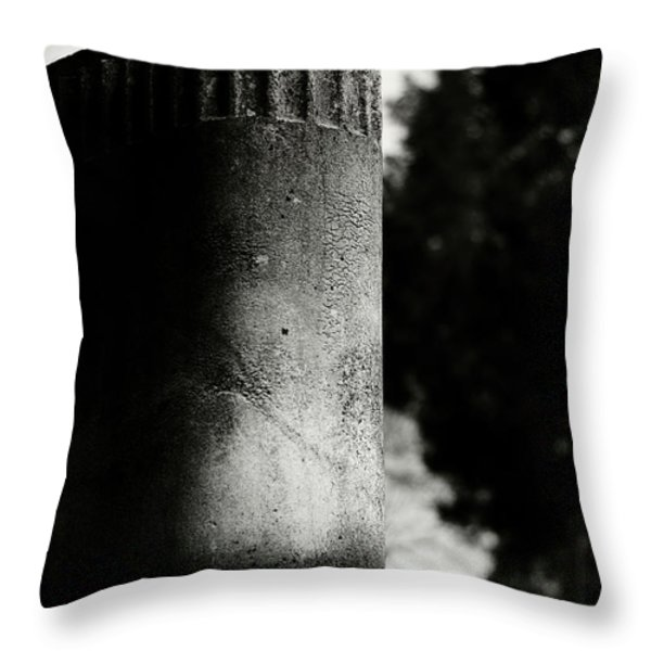 Rounded With A Sleep Throw Pillow by Rebecca Sherman