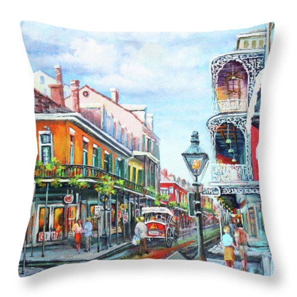 Royal Balconies Throw Pillow by Dianne Parks