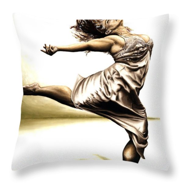 Rubinesque Dancer Throw Pillow by Richard Young