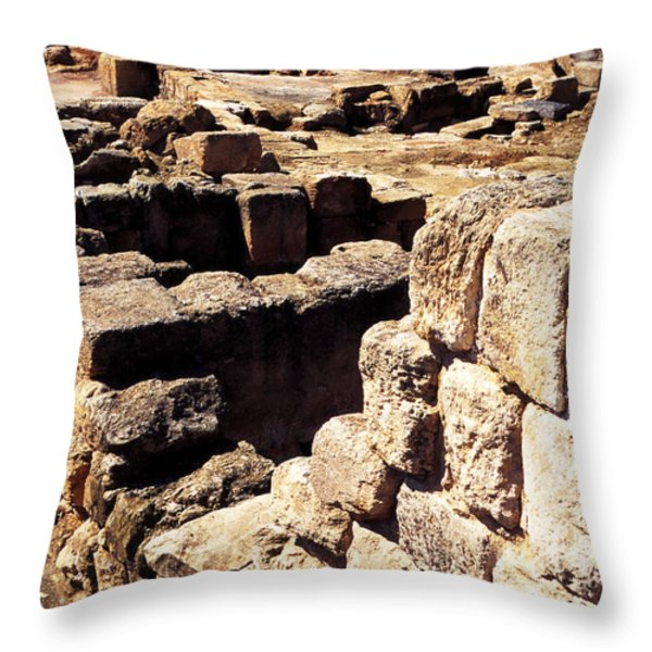 Ruins Of Zippori Throw Pillow by Thomas R Fletcher