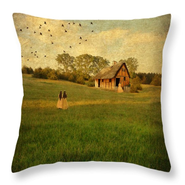 Rural Cottage Throw Pillow by Jill Battaglia