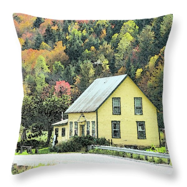 Rural New England Throw Pillow by Betty LaRue