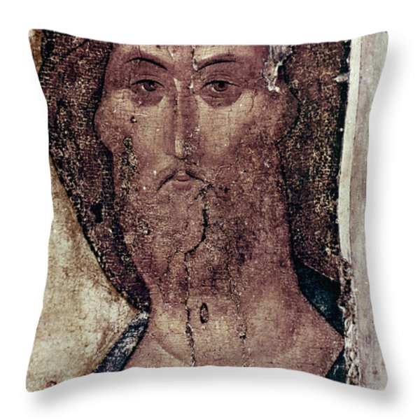 Russian Icons: The Saviour Throw Pillow by Granger