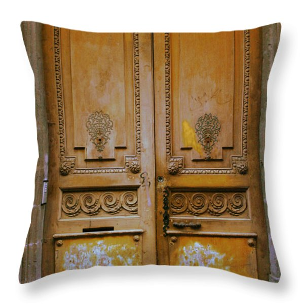 Rustic French Door Throw Pillow by Nomad Art And  Design