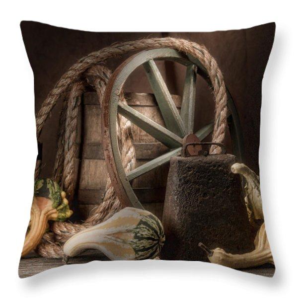 Rustic Still Life Throw Pillow by Tom Mc Nemar