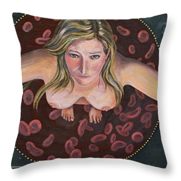 Sacred Circle II Throw Pillow by Sheri Howe