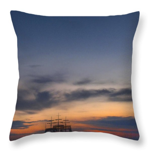 Sailing To The Moon Throw Pillow by Mike McGlothlen
