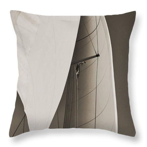 Sails Throw Pillow by Dustin K Ryan