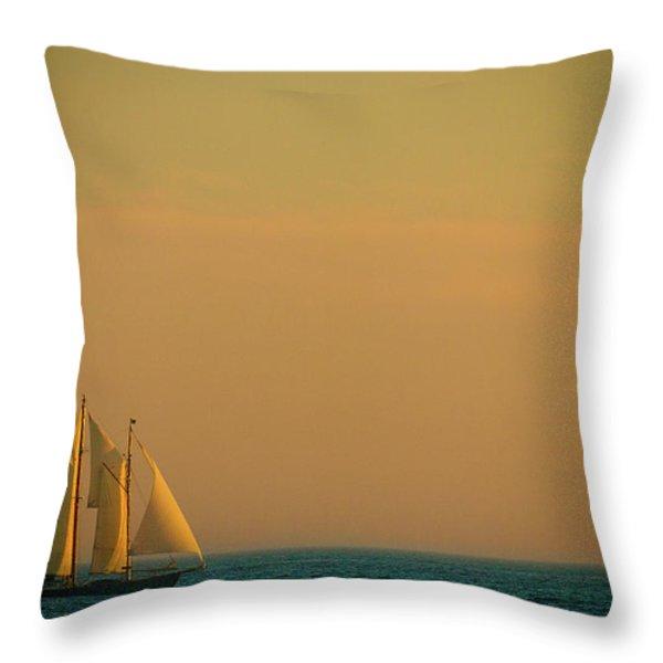 Sails Throw Pillow by Sebastian Musial