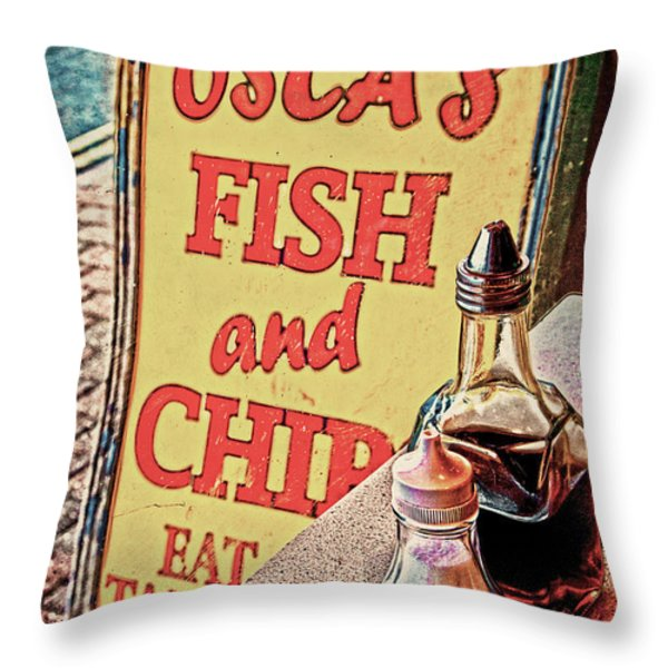 Salt and Vinegar Throw Pillow by Chris Lord
