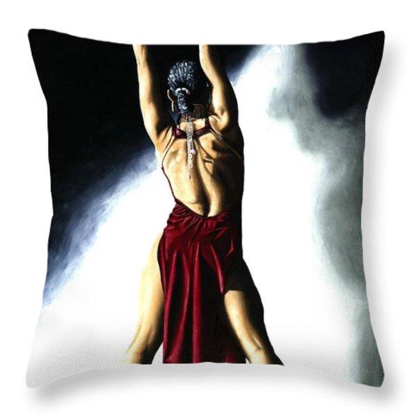 Samba Celebration Throw Pillow by Richard Young