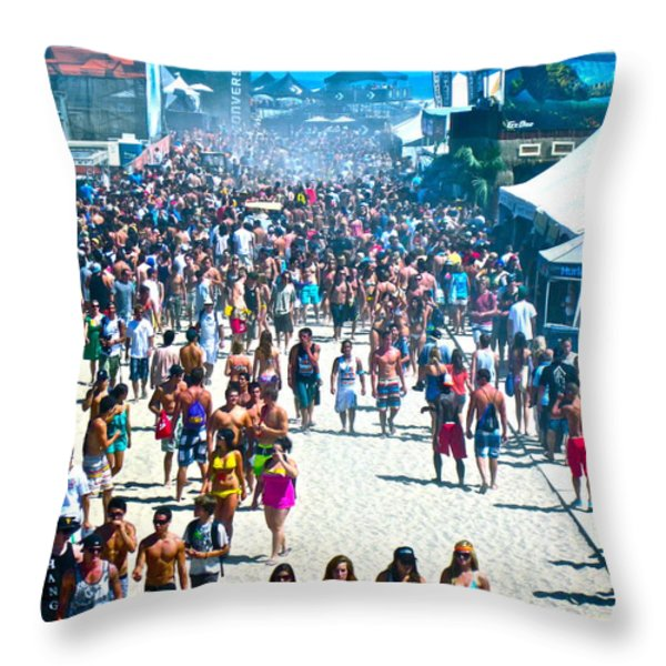 Same Shot Curves Throw Pillow by Gwyn Newcombe