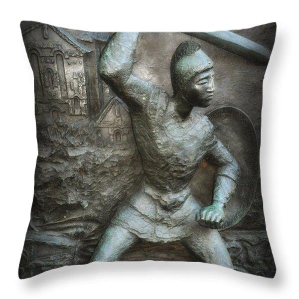 samurai warrior Throw Pillow by Bill Cannon