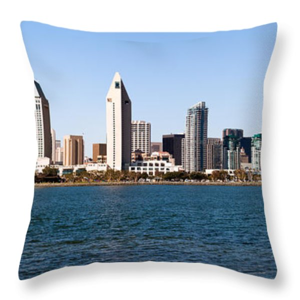 San Diego Panorama Throw Pillow by Paul Velgos