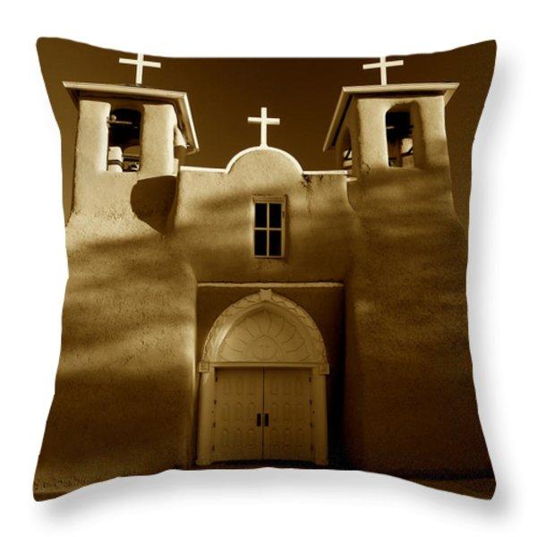 San Francisco de Asis 1772 Throw Pillow by Sean Cupp