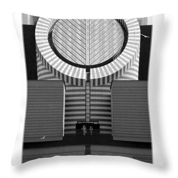 San Francisco Museum Of Modern Art Throw Pillow by Mike McGlothlen