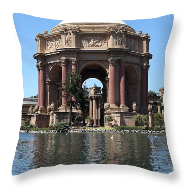 San Francisco Palace Of Fine Arts - 5d18081 Throw Pillow by Wingsdomain Art and Photography