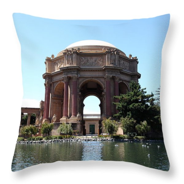 San Francisco Palace of Fine Arts - 5D18107 Throw Pillow by Wingsdomain Art and Photography
