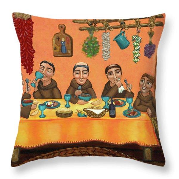 San Pascuals Table 2 Throw Pillow by Victoria De Almeida