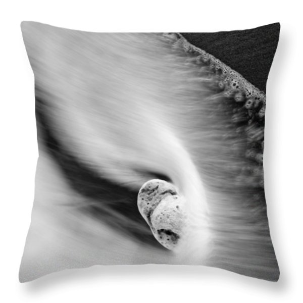Sand and Sea Throw Pillow by Mike  Dawson