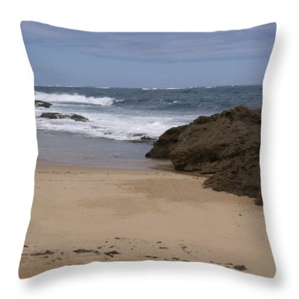 Sand And Surf San Juan Throw Pillow by Anna Villarreal Garbis