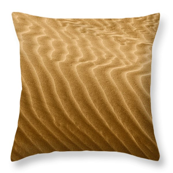 Sand Dune Mojave Desert California Throw Pillow by Christine Till