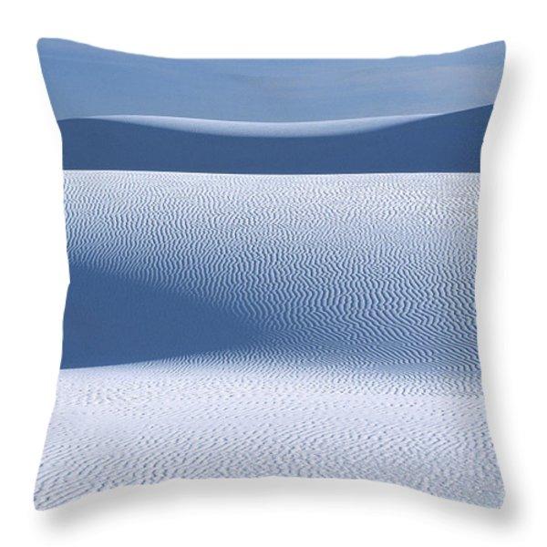 Sand Patterns Throw Pillow by Sandra Bronstein