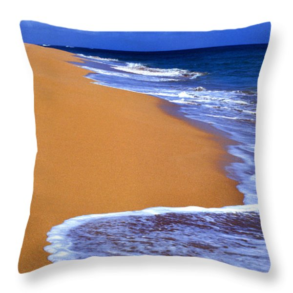 Sand Sea Sky Throw Pillow by Thomas R Fletcher