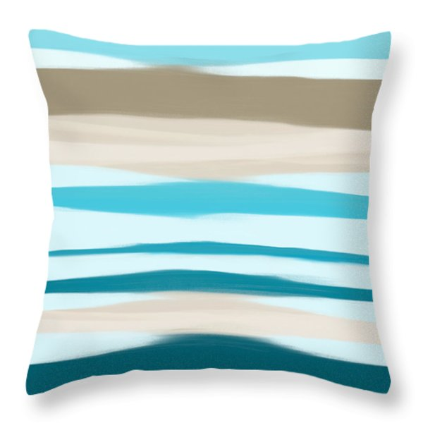 Throw Pillow featuring the painting Sandbanks by Frank Tschakert
