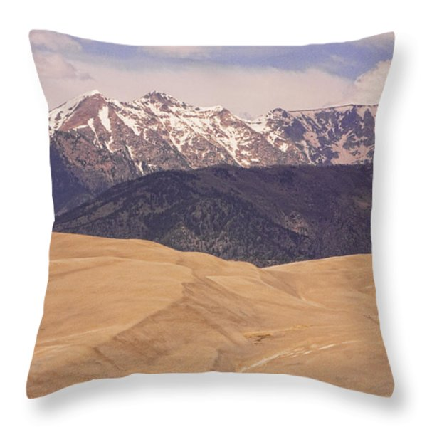 Sangre De Cristo Mountains And The Great Sand Dunes Throw Pillow by James BO  Insogna