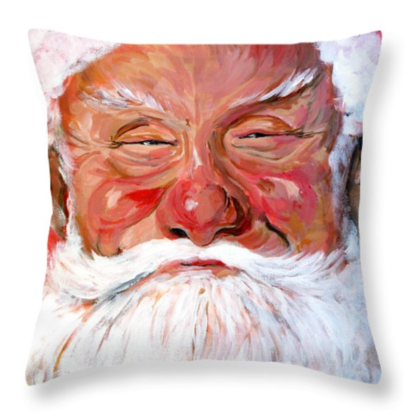 Santa Claus Throw Pillow by Tom Roderick