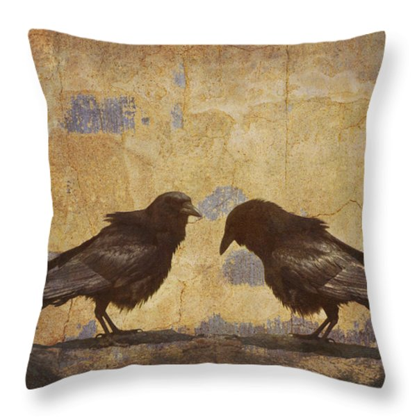 Santa Fe Crows Throw Pillow by Carol Leigh